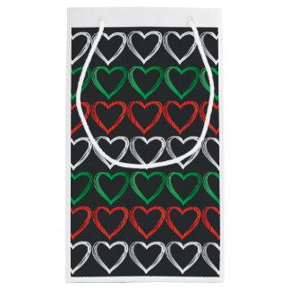 Italian hearts gift bag