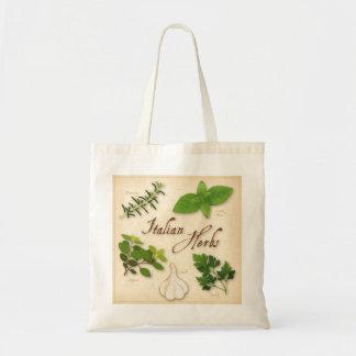 Italian Herbs, Basil, Oregano, Parsley, Garlic Tote Bag