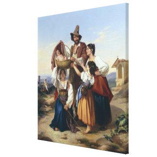 Italian Herdsman, 1835 Canvas Print