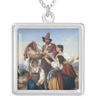 Italian Herdsman, 1835 Silver Plated Necklace