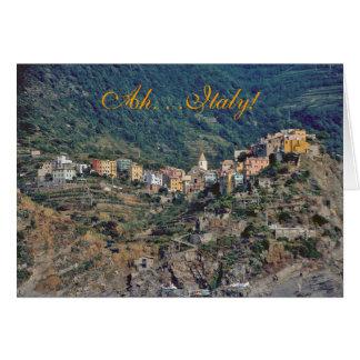 """Italian Hillside Village"" Note Card"