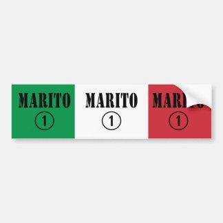 Italian Husbands : Marito Numero Uno Car Bumper Sticker