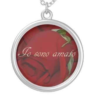 Italian I Am Loved Necklace