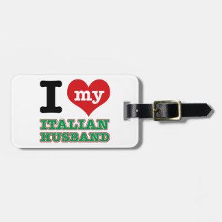Italian I heart designs Luggage Tag