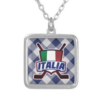Italian Ice Hockey Flag Pendant