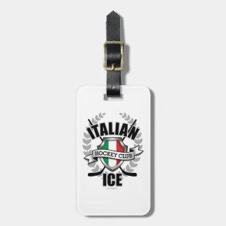 Italian Ice Hockey Luggage Tag