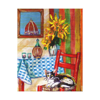 ITALIAN KITCHEN IN FLORENCE GALLERY WRAP CANVAS