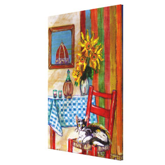 ITALIAN KITCHEN IN FLORENCE GALLERY WRAPPED CANVAS