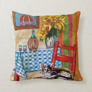 ITALIAN KITCHEN IN FLORENCE THROW PILLOW