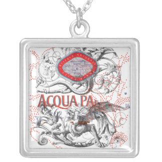 Italian Label Art & Gargoyle Silver Plated Necklace