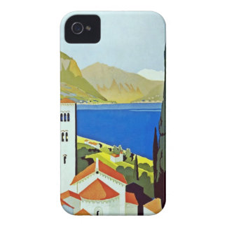 Italian Lakes District Vintage Travel Poster Case-Mate iPhone 4 Cases