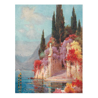 Italian Lakes Flowers Postcard