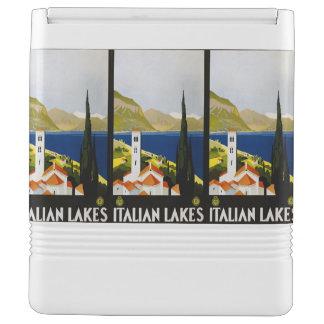 Italian Lakes Italy Vintage Travel custom cooler Igloo Cool Box