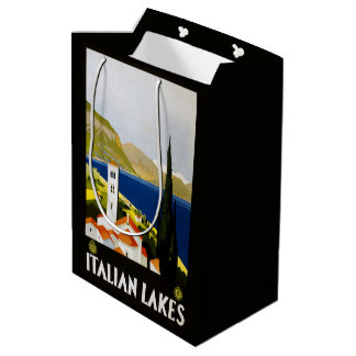 Italian Lakes Italy Vintage Travel gift bags