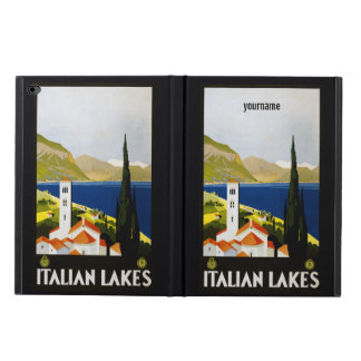 Italian Lakes vintage travel device cases
