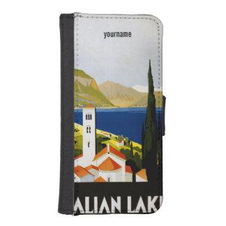 Italian Lakes vintage travel phone wallets