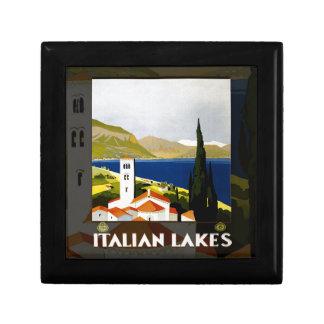 Italian Lakes Vintage Travel Poster Gift Box