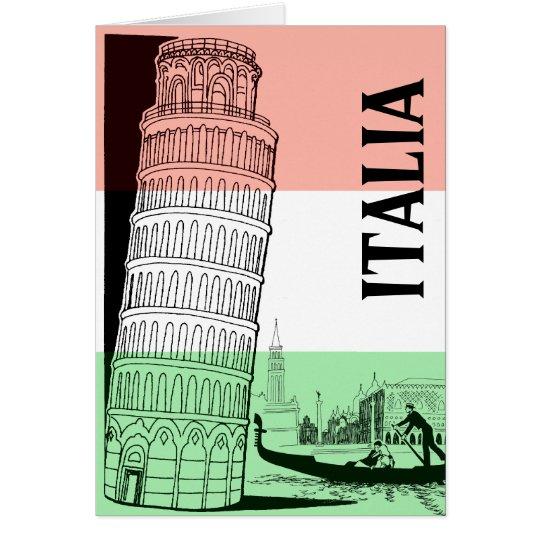 Italian Landmark Greeting Card - Personalised