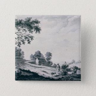 Italian Landscape 15 Cm Square Badge