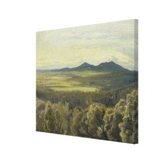 Italian Landscape, 1833 Canvas Print