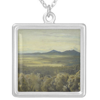 Italian Landscape, 1833 Silver Plated Necklace