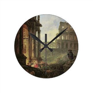 Italian landscape round clock