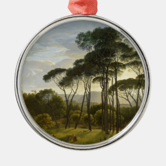 Italian Landscape Umbrella Pines by Hendrik Voogd Christmas Ornament