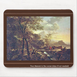 Italian Landscape With Draftsman. [1] By Jan Both Mouse Pad