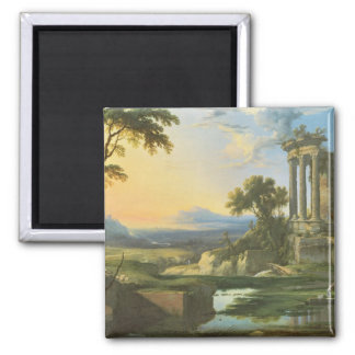 Italian landscape with ruins magnet