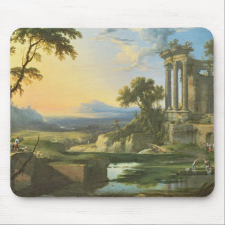 Italian landscape with ruins mouse mat