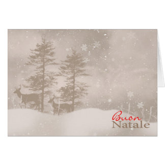 Italian Language Happy Holidays Stylish Christmas Card