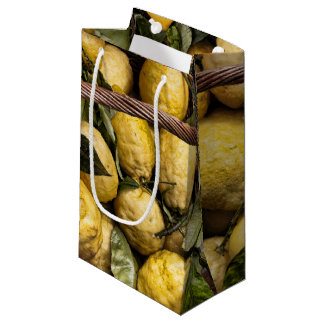 Italian Lemons in a Basket Small Gift Bag