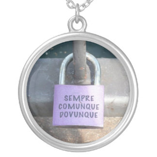Italian Lock of Love Personalized Necklace