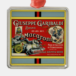 Italian Macaroni Advertisement Christmas Ornament