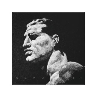 Italian man Foro Italico 1 Canvas Print