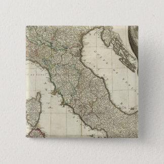 Italian Map 15 Cm Square Badge