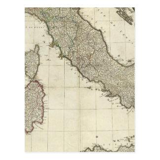 Italian Map Postcard