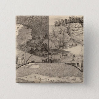 Italian Marble Mills and Quarries 15 Cm Square Badge