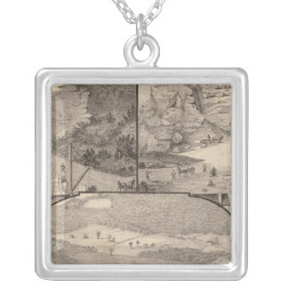 Italian Marble Mills and Quarries Silver Plated Necklace
