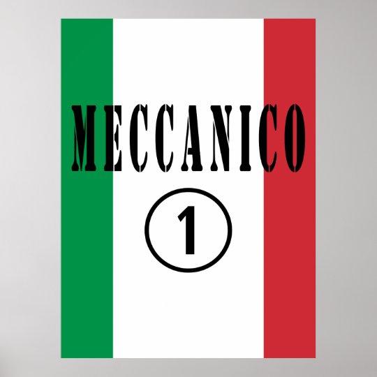 Italian Mechanics : Meccanico Numero Uno Poster