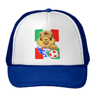 Italian,Mexican or Hungarian Soccer Lion Trucker Hat