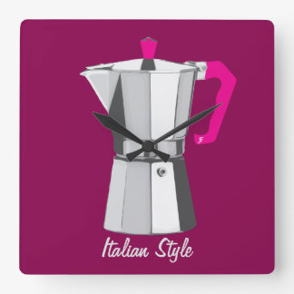 Italian Moka Square Wall Clock