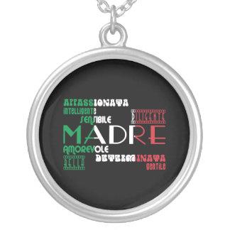 Italian Mothers : Qualities Round Pendant Necklace