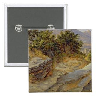 Italian Mountain Landscape, c.1824 15 Cm Square Badge