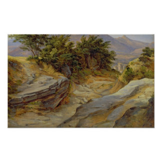 Italian Mountain Landscape, c.1824 Poster
