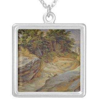 Italian Mountain Landscape, c.1824 Silver Plated Necklace