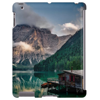 Italian Mountains Lake Landscape Photo iPad Case