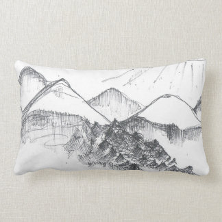 Italian Mountains Lumbar Pillow