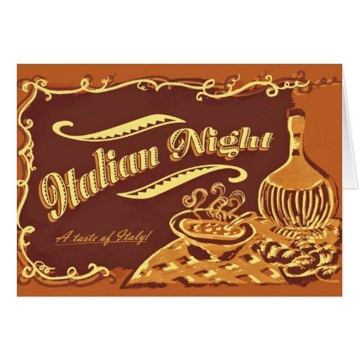 Italian Night Invitation Greeting Cards