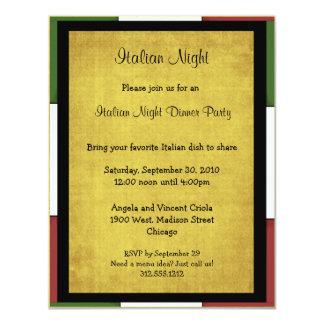 Italian Night Party Invitation